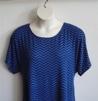 Image Tracie Shirt - Royal Blue/Black Chevron Rayon Knit