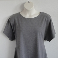 Image Tracie Shirt - Medium Gray Cotton Knit