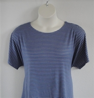 Image Tracie Shirt - Denim Blue/White Stripe Cotton Knit
