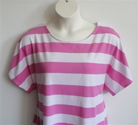 Image Tracie Shirt - Pink/White Stripe Cotton Knit