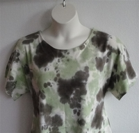 Image Tracie Shirt - Olive/Green Tie Dye Cotton Knit