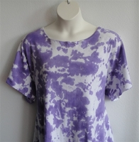 Image Tracie Shirt - Purple Tie Dye Cotton Knit