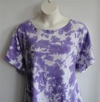 Image Tracie Shirt - Purple Tie Dye Cotton Knit