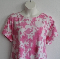 Image Tracie Shirt - Pink Tie Dye Cotton Knit
