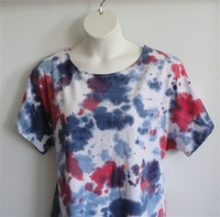 Image Tracie Shirt - Red/White/Blue Tie Dye Cotton Knit