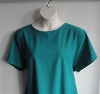 Image SECOND -- Tracie Shirt - Emerald Green Poly French Terry Wickaway