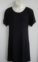 Image Orgetta Nightgown - Black Rayon Blend Knit