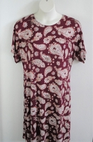 Image Orgetta Nightgown - Plum Paisly Brushed Rayon Knit