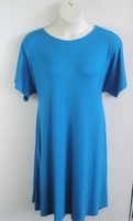 Image Orgetta Nightgown - Turquoise Rayon Knit