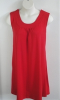 Image Heidi Nightgown - Red Cotton Knit