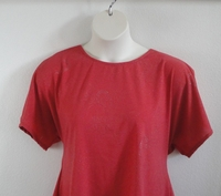 Image Tracie Shirt - Dark Coral Shimmer Cotton Knit