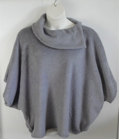 Image Emily Side Opening Sweater - Gray Chenille Fleece