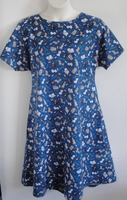 Image Orgetta FLANNEL Nightgown - Royal Blue Dogs