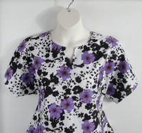 Image Gracie Shirt - Purple/Black Floral Polyester