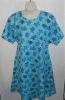 Image Orgetta FLANNEL Nightgown - Aqua Sea Turtle