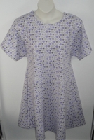 Image Orgetta FLANNEL Nightgown - Purple Hearts/Circles