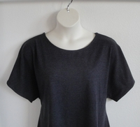 Image Tracie Shirt - Charcoal Gray Cotton Knit