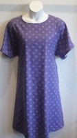 Image Orgetta FLANNEL Nightgown - Purple Dot