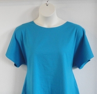 Image Tracie Shirt - Turquoise Blue Cotton Knit