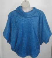 Image Emily Side Opening Sweater - Medium Blue Chenille Fleece