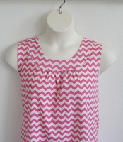 Image Sara Shirt - Pink/White Chevron Cotton Knit