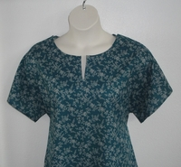 Image Gracie Shirt - Teal Vine Floral