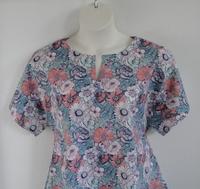 Image Gracie Shirt - Blue/Coral Floral