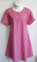 Image Erin Nightgown - Bright Pink Floral Calico