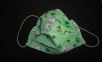 Image Snoopy Woodstock Green Face Mask