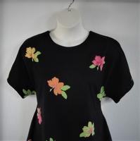 Image Tracie Shirt - Neon/Black Tropical Cotton Knit