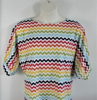 Image Libby Shirt - Rainbow Chevron Cotton Blend