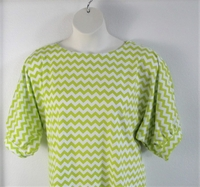 Image Libby Shirt - Lime Green Chevron Cotton Blend