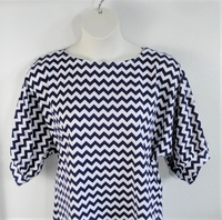 Image Libby Shirt - Navy Chevron Cotton Blend