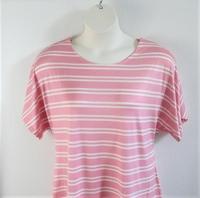 Image Tracie Shirt - Pink Stripe Rayon Knit