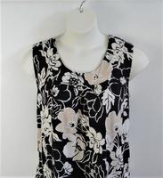 Image Sara Shirt - Black/Tan Brushed Poly Knit