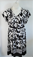 Image Randi Dress - Black Tribal Print with Border