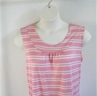 Image Sara Shirt - Pink/White Stripe Rayon Knit
