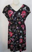 Image Randi Dress - Black/Pink/Tan Floral Jersey Knit