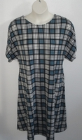 Image Orgetta Nightgown - Teal Plaid Rayon Knit