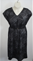 Image Randi Dress - Black/Gray Swish Polyester Knit
