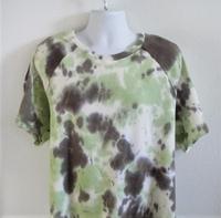 Image Unisex/Men Shirt (Men's Sizes) - Olive Green Tie Dye