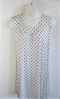 Image Heidi Nightgown - Black/White Dot Rayon Knit