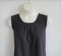 Image Sara Shirt - Charcoal Gray Cotton Knit