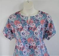 Image Gracie Shirt - Coral/Blue Floral