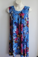 Image Heidi Nightgown - Large Blue/Pink Floral Jersey (S & M only)