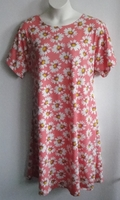 Image Orgetta Nightgown - Coral Daisy Cotton Knit