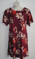 Image Orgetta Nightgown - Burgundy Floral Brushed Rayon Knit