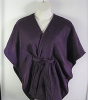 Image Shandra FLEECE Cape - Plum