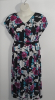 Image Randi Dress - Pink/Black Floral Jersey Knit