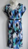 Image Randi Dress - Blue/Green Splash Jersey Knit
